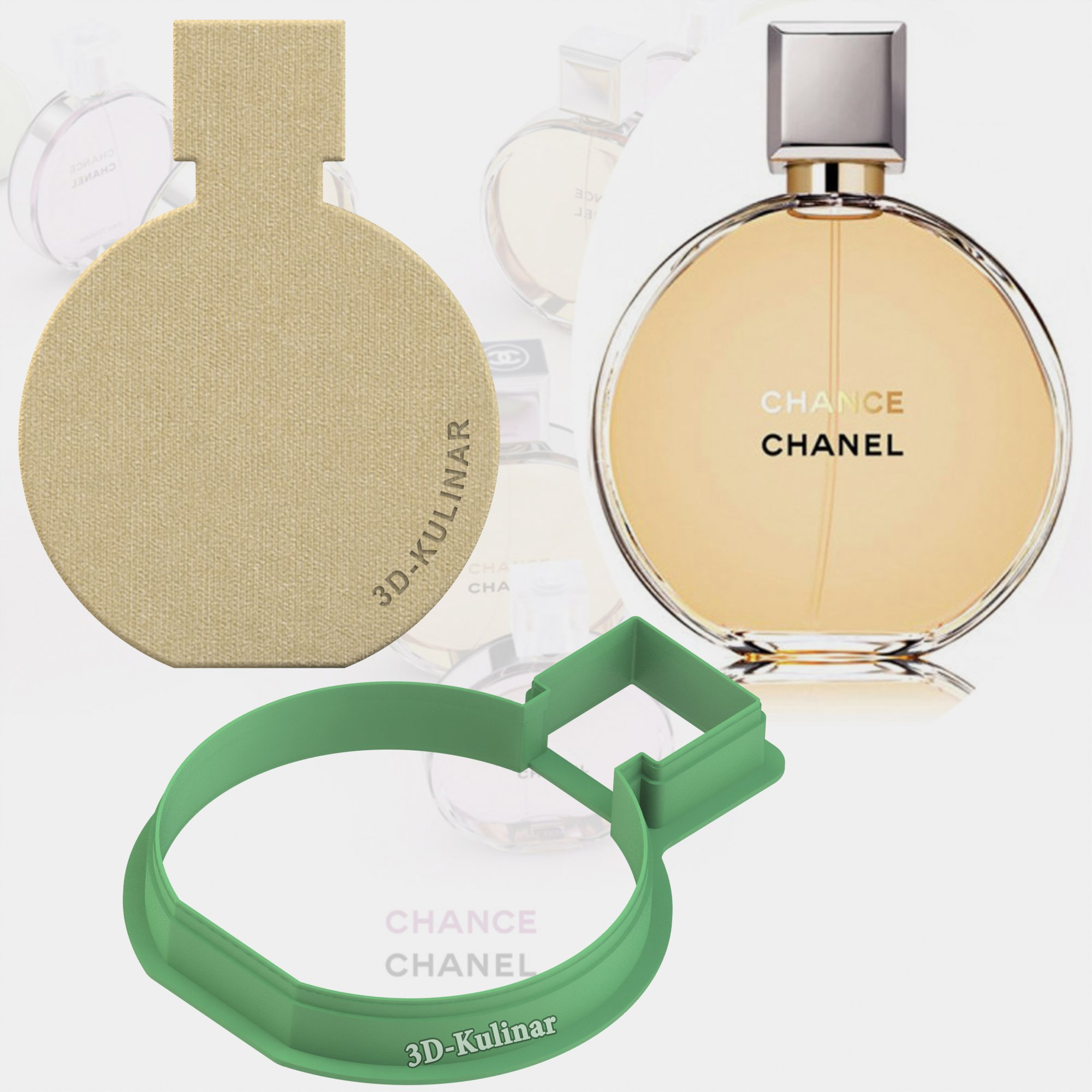 "Cookie cutter ""Perfume Bottle. Chanel №2"""