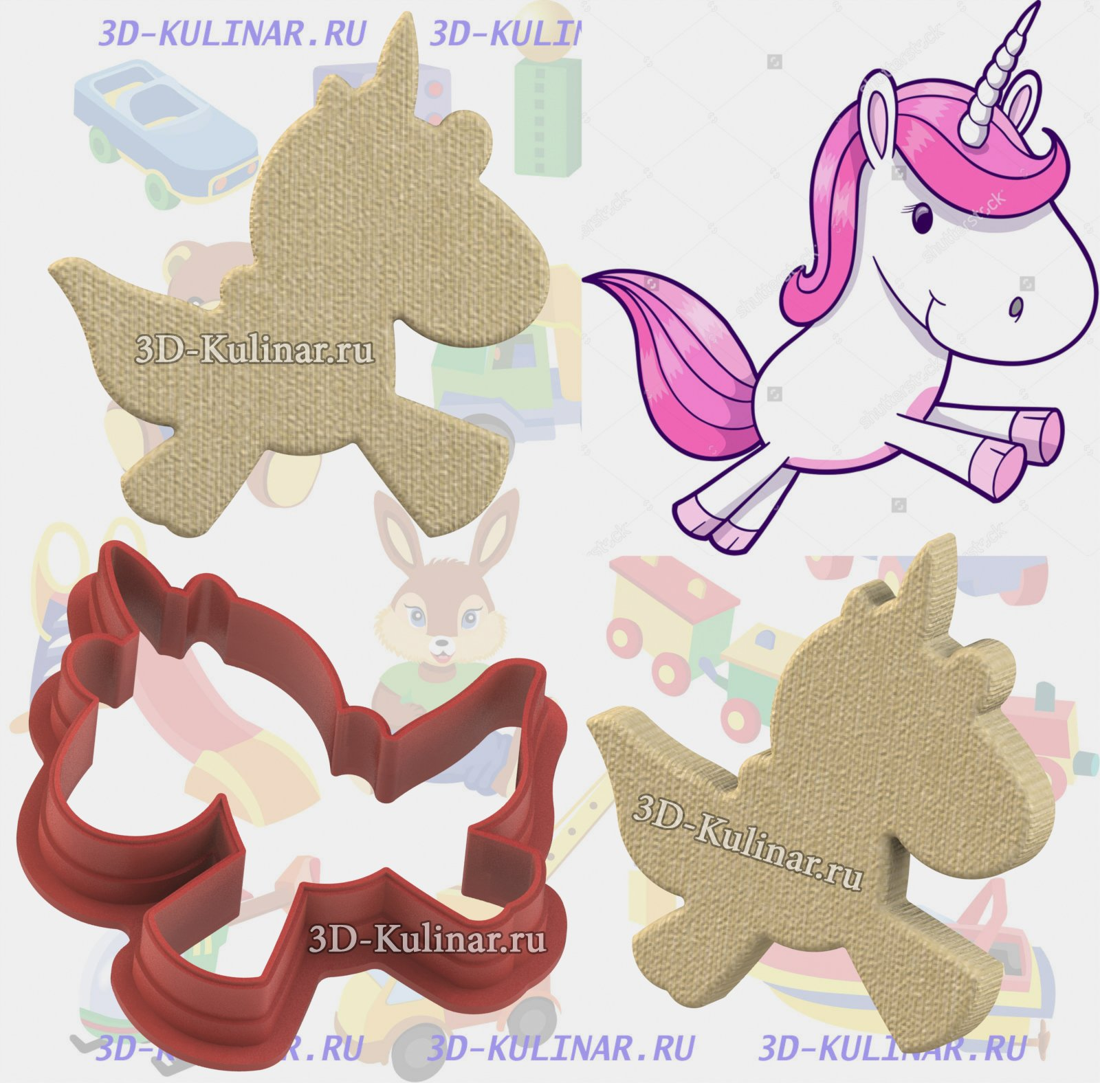 "Cookie cutter "" Unicorn №1 """