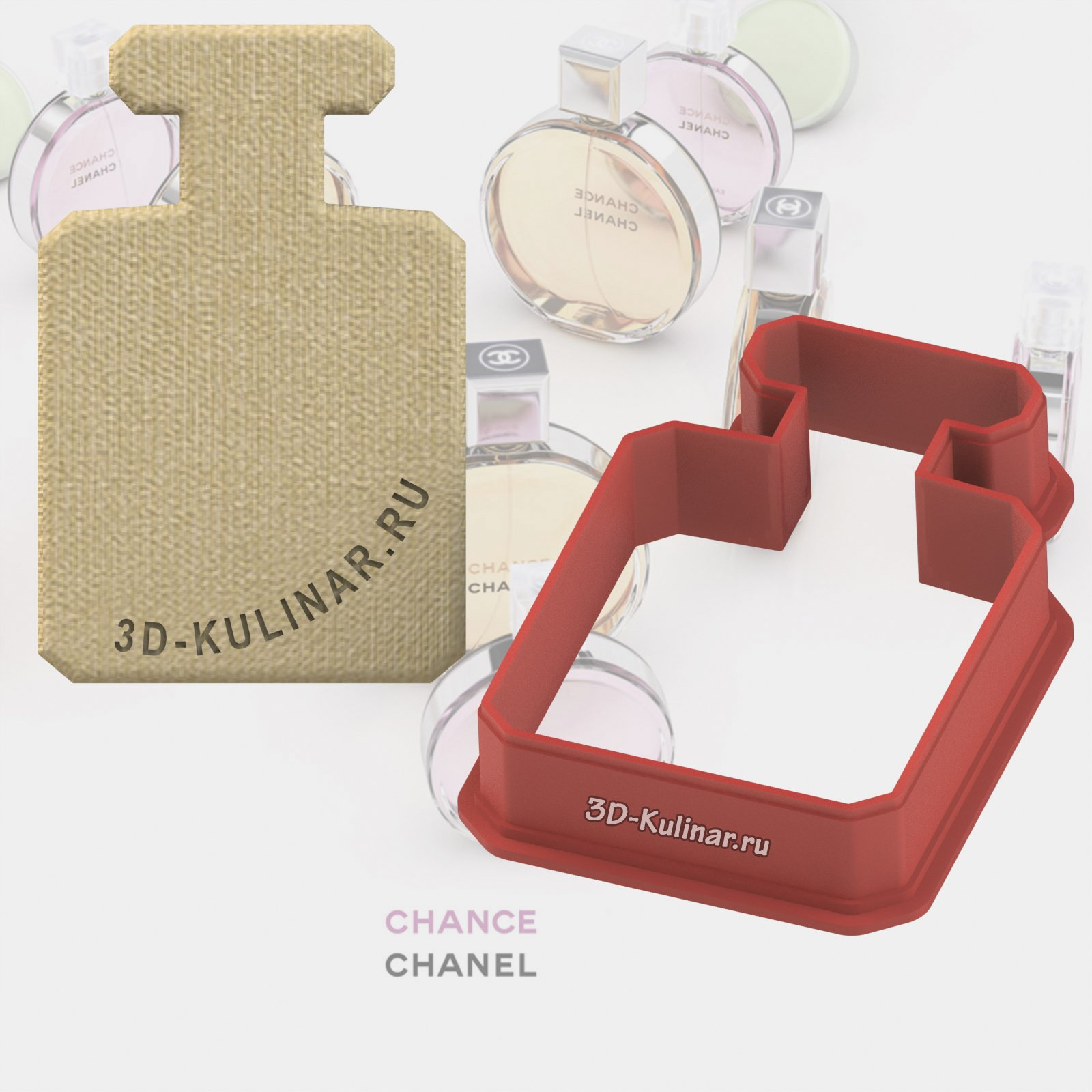 "Cookie cutter ""Perfume bottle. Chanel"""
