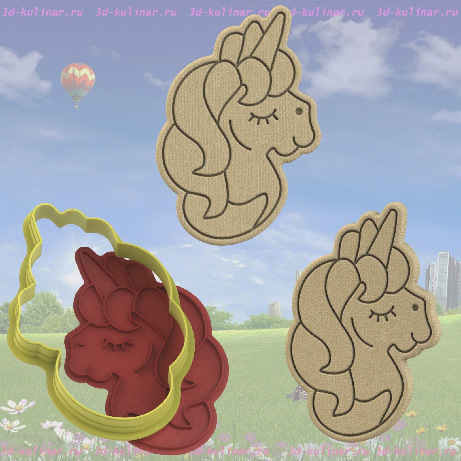 "Cookie cutter "" Unicorn №3 """