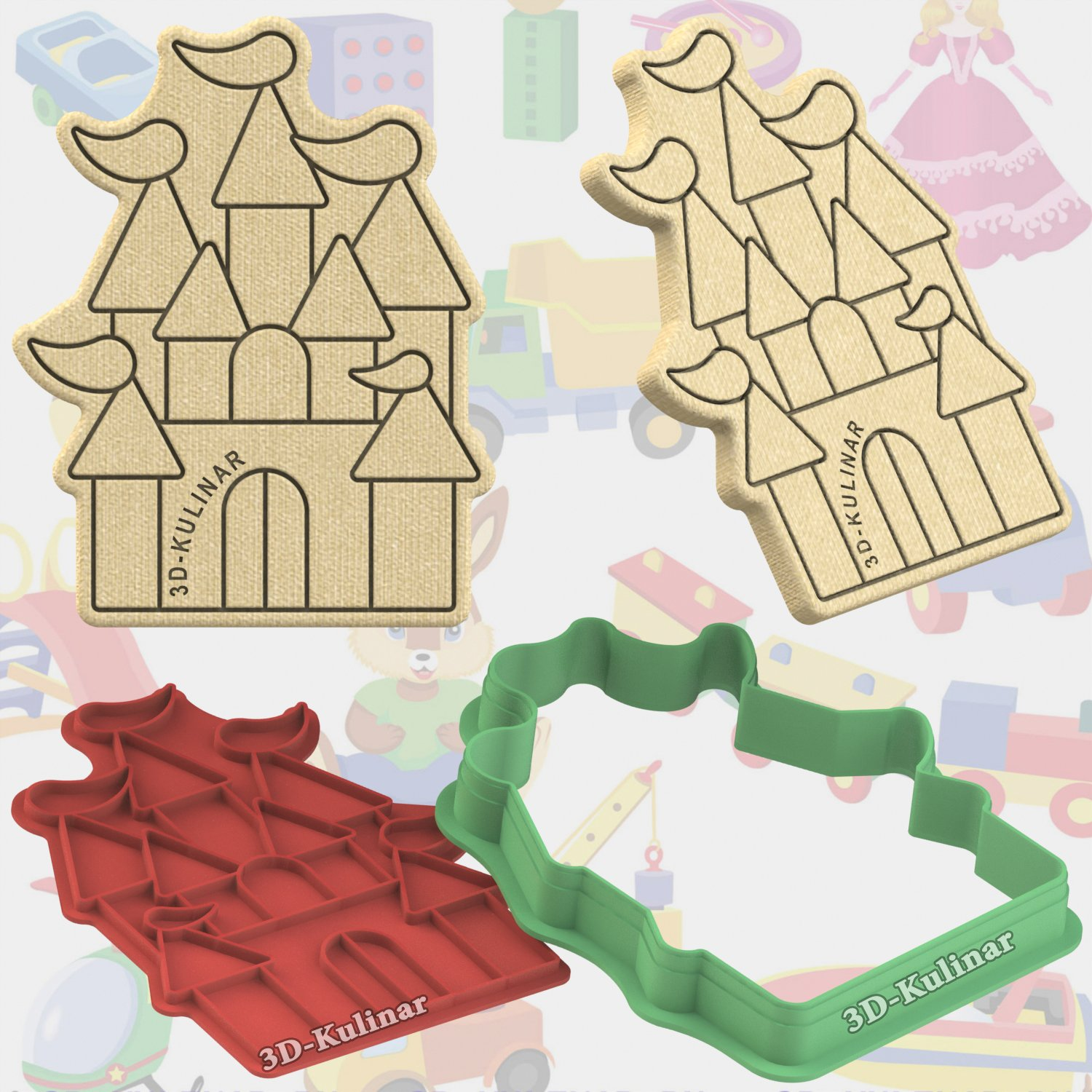 "Stamp + cookie cutter ""Castle"""