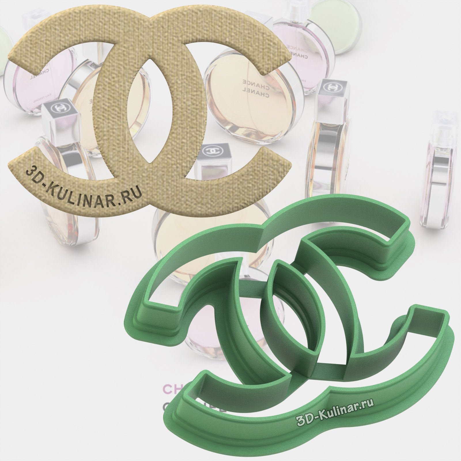 "Cookie cutter ""Logo Chanel"""