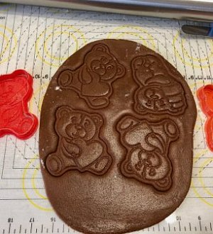 "Stamp + cookie cutter ""Bear with heart №1"""
