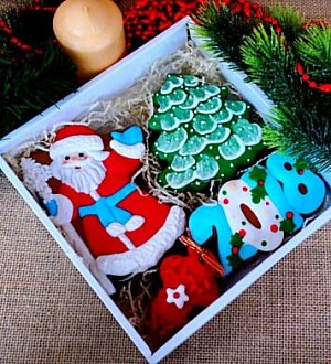 "Stamp + cookie cutter ""Santa №11"""