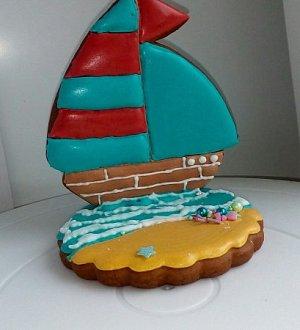 "Cookie cutter set ""3D ship"""