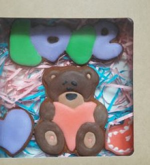 "Stamp + cookie cutter ""Bear with heart №2"""