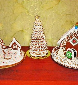 "Cookie cutter set ""Christmas three №1"""
