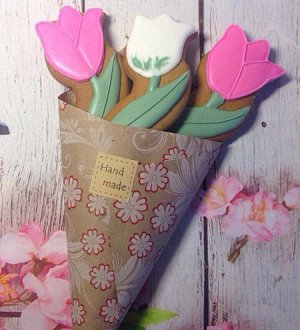 "Cookie cutter ""Flower tulip №2"""