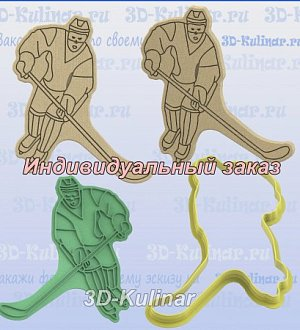 "Stamp+cookie cutter ""Hockey player"""