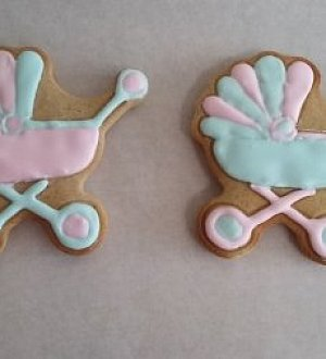 "Stamp + cookie cutter ""Baby carriage №2"""