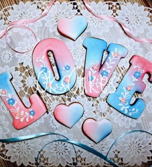 "Cookie cutter ""LOVE №4"""