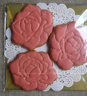 "Stamp + cookie cutter ""Flower Rose"""