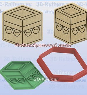"Stamp+cookie cutter ""Kaaba Temple"""